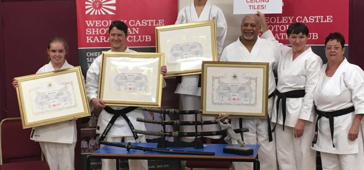 Black Belt Certificate Presentation and Awards Ceremony October 2018